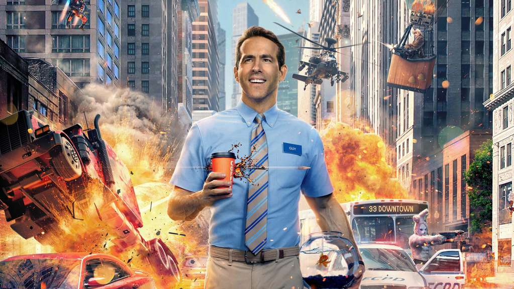 Movie premieres Ryan Reynolds in Free Guy as a hero