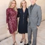 """Reese Witherspoon smiles along with her lookalikes Ava, 21, and Deacon, 17, as she says she is """"lucky"""""""