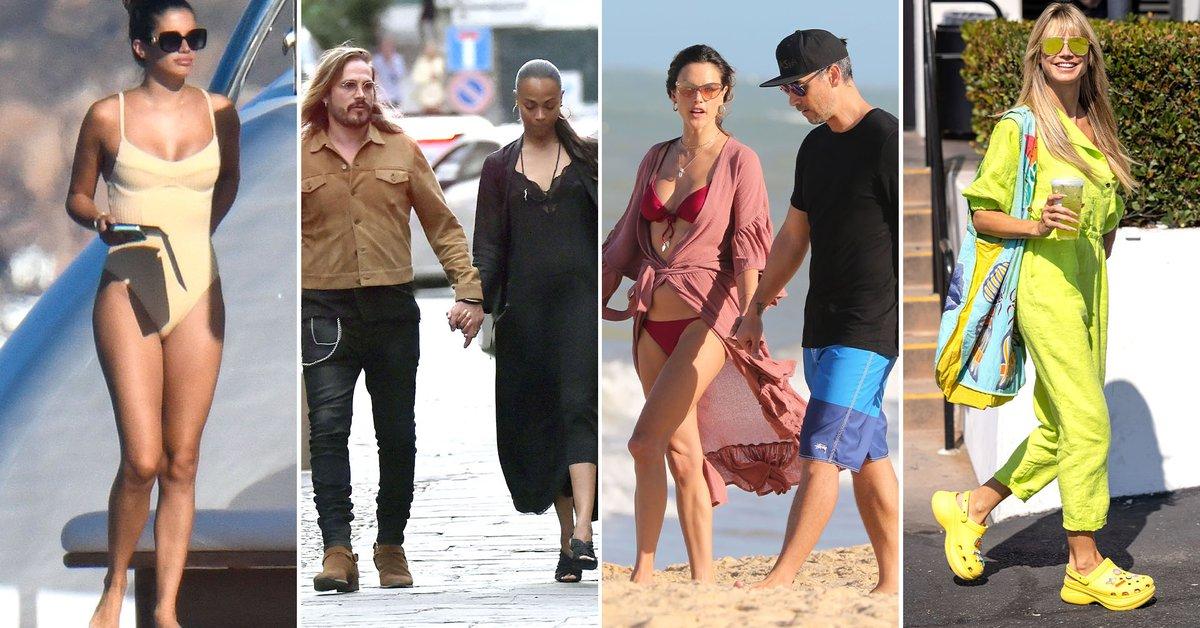Sara Sampaios vacation Zoe Saldana and Marco Peregos romantic outing