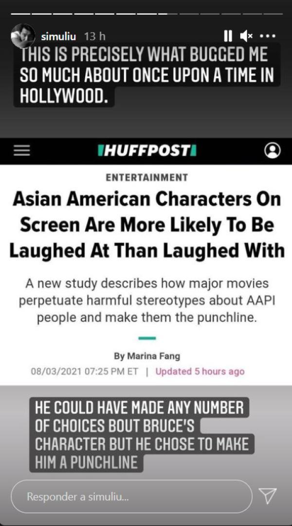 Shang Chi Simu Liu criticizes Quentin Tarantino for making Bruce