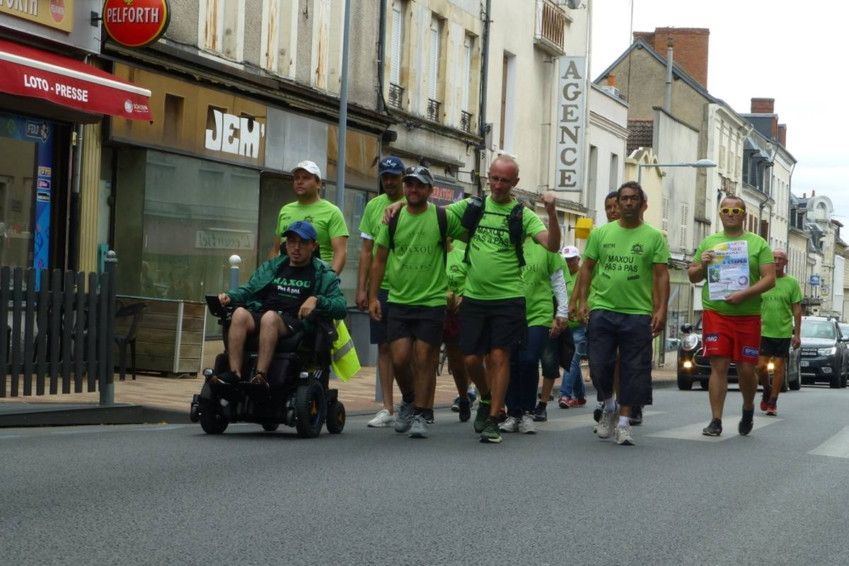 Sports and solidarity challenge - Around the Cher on foot for the benefit of the Handi'Go association