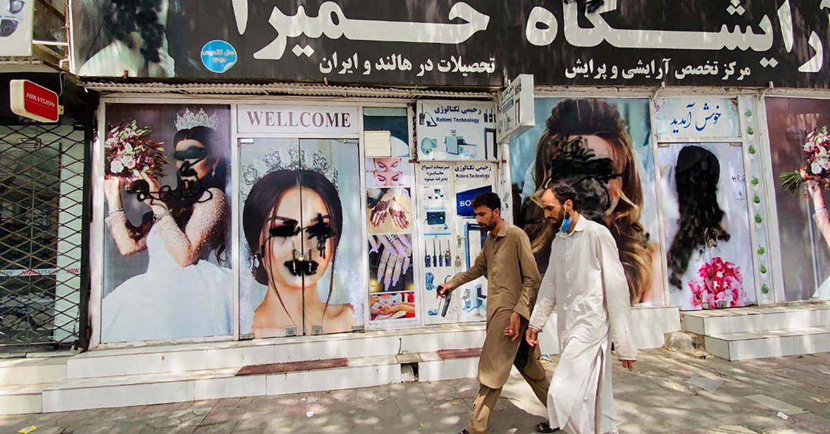 The Taliban banned radio stations from broadcasting music and women from working in the media