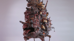 This replica of Ghibli's Howl's Moving Castle is made out of junk