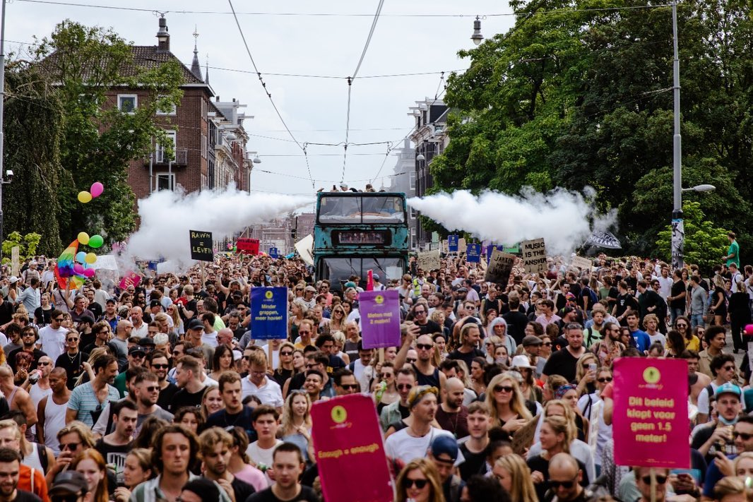 UnMuteUs: 70,000 people take to the Dutch streets demanding return from clubs and music festivals