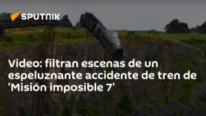 Video: they filter scenes of a creepy train accident from 'Mission: Impossible 7'
