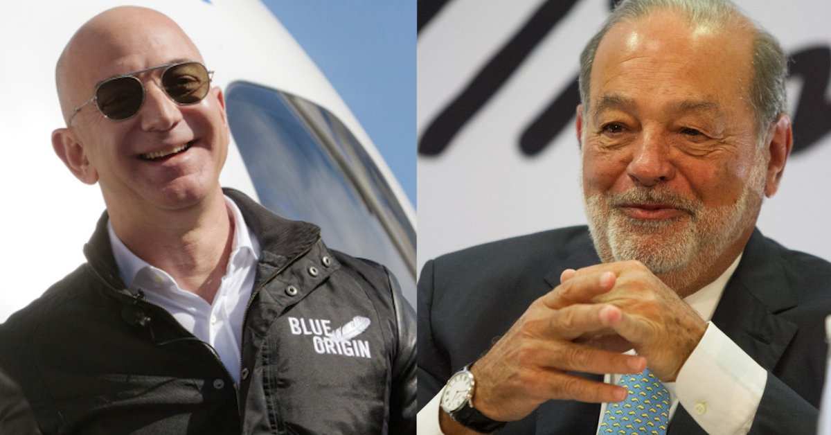 1630546308 In which year did Jeff Bezos unseat Carlos Slim from