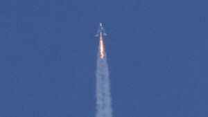 Richard Branson's Virgin Galactic spacecraft veered off course during its first space flight