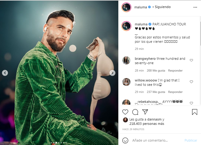1631312024 637 Thank you for these moments Maluma thanked his audience