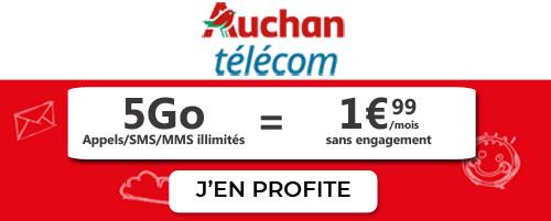 Auchan Telecom 5GB plan