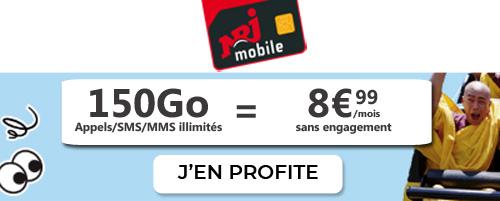 NRJ Mobile 150GB plan