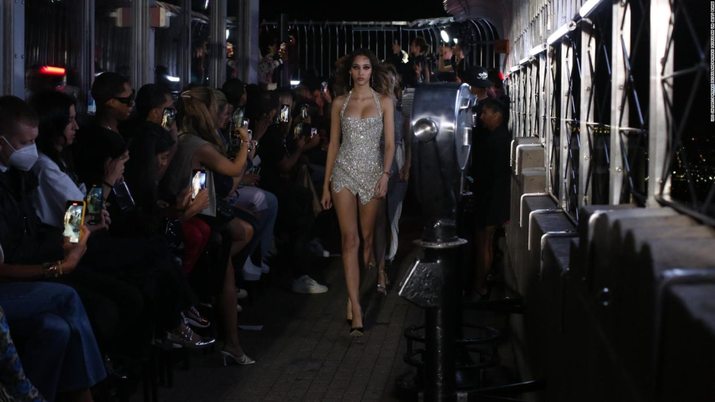 LaQuan Smith performs fashion show at the Empire State Building
