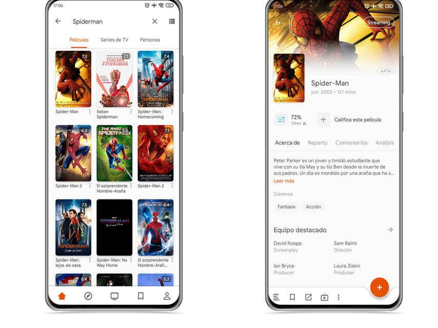 Movie tab in Moviebase