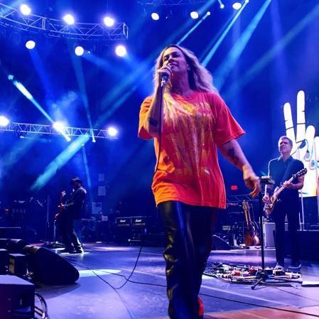 Alanis Morissette at a concert