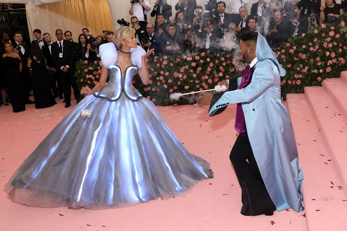 Zendaya and her stylist, Law Roach, at the 2019 Met Gala.
