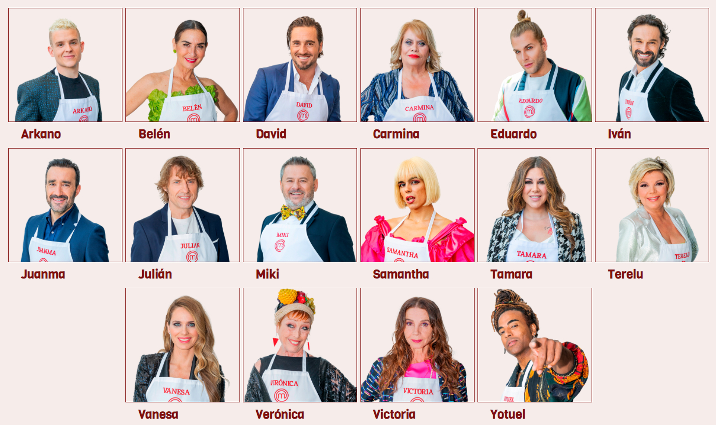 Famous contestants from MasterChef Celebrity 6