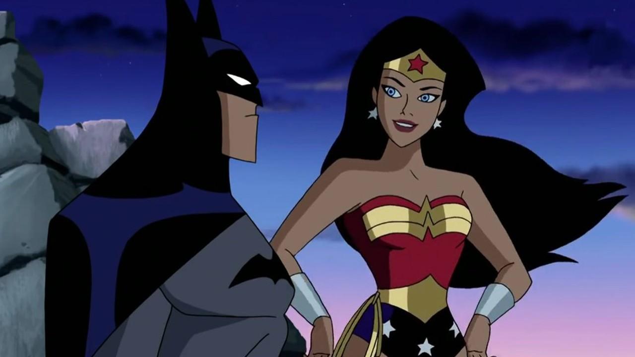 batman y wonder woman justice league animada