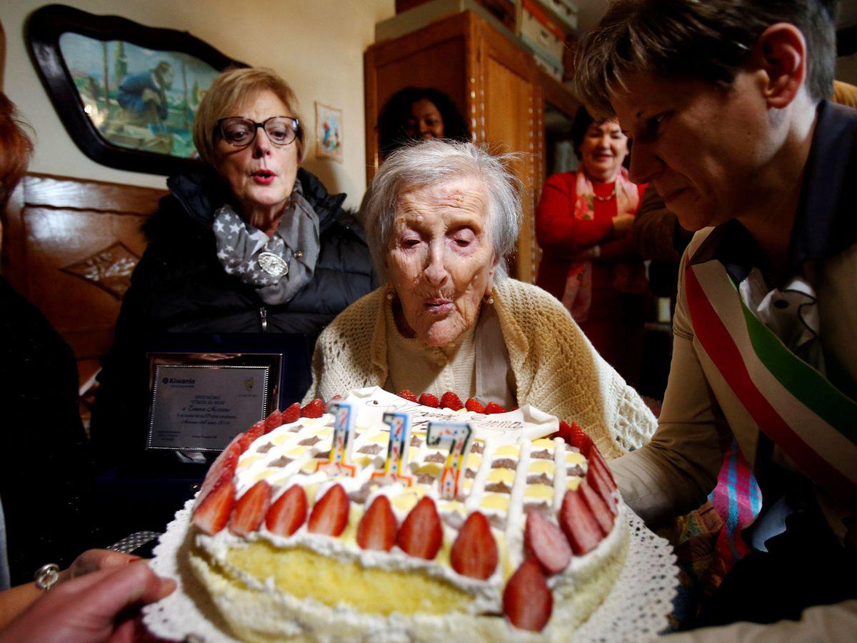 Photo: Emma Morano was an Italian supercentennial who surpassed 117 years. (Reuters)