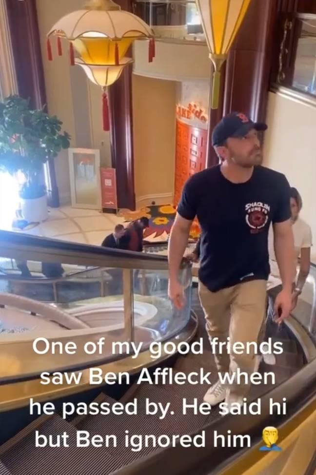 Ben Afflecks reaction to fan who tried to say hello