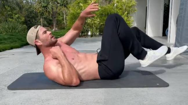 Chris Hemsworth is in ridiculous shape ahead of ripping 2