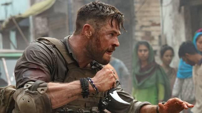 Chris Hemsworth in Extraction. Credit: Netflix