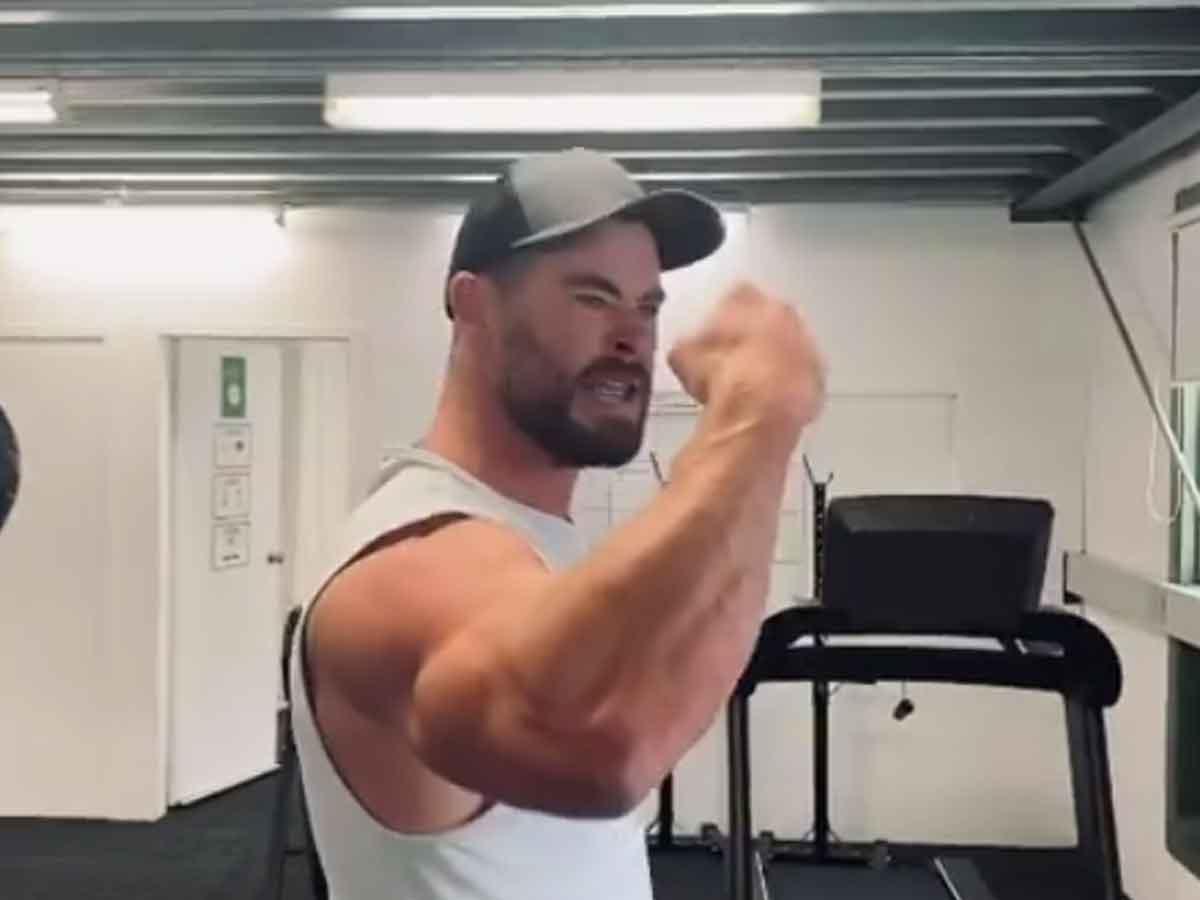 Chris Hemsworth shares his intense training