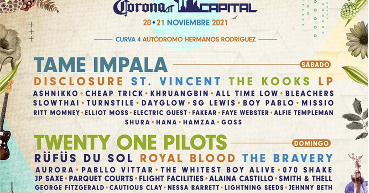 Corona Capital 2021 confirmed: Tame Impala and Twenty One Pilots headline the bill