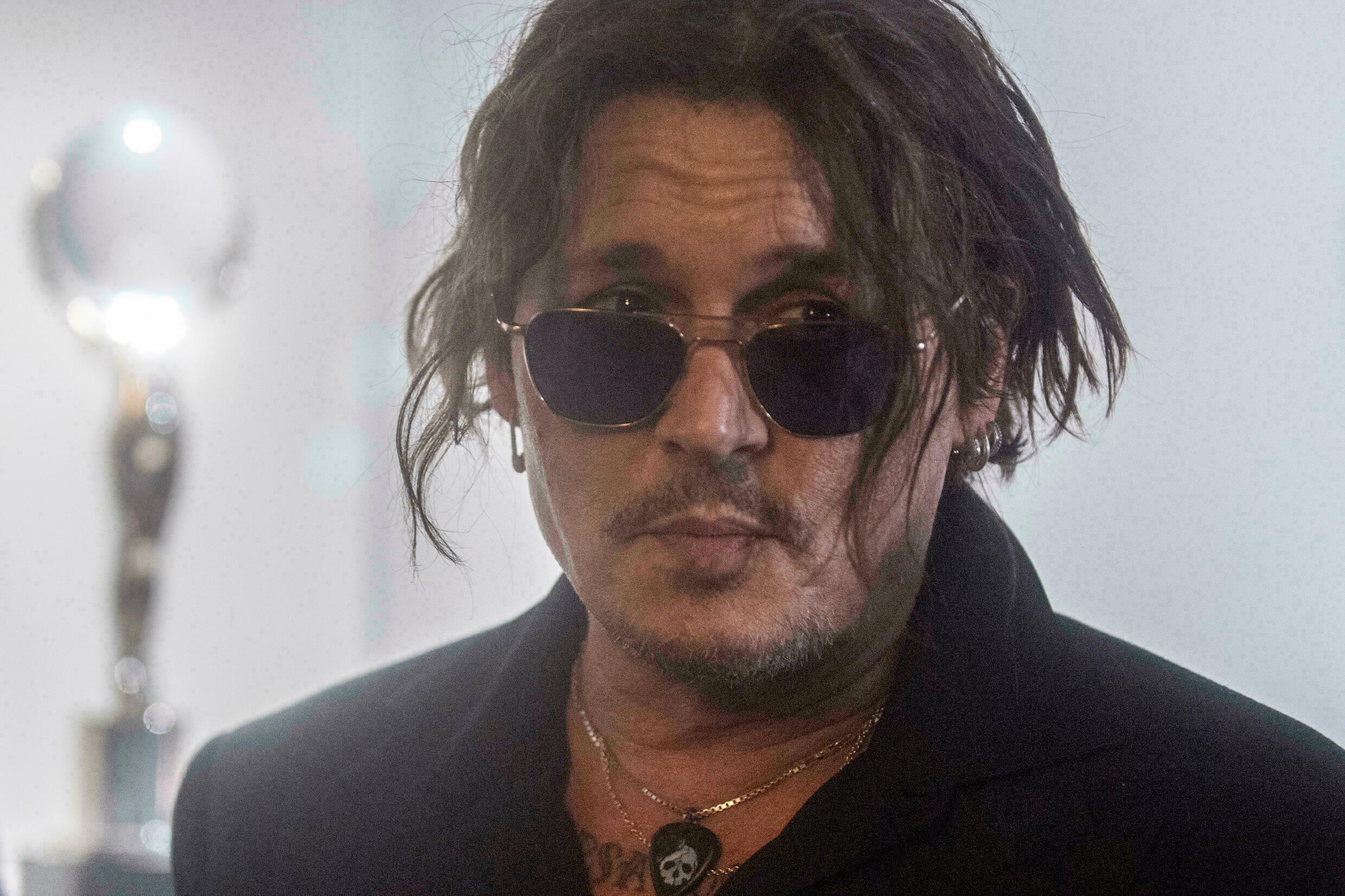 American actor and producer Johnny Depp at the Karlovy Vary Film Festival on August 27, 2021 in the Czech Republic