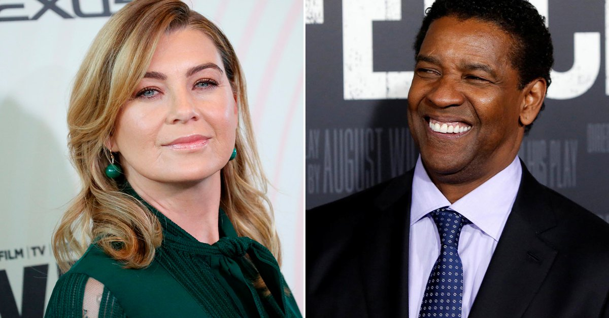 Ellen Pompeo recounted the unusual fight she had with Denzel
