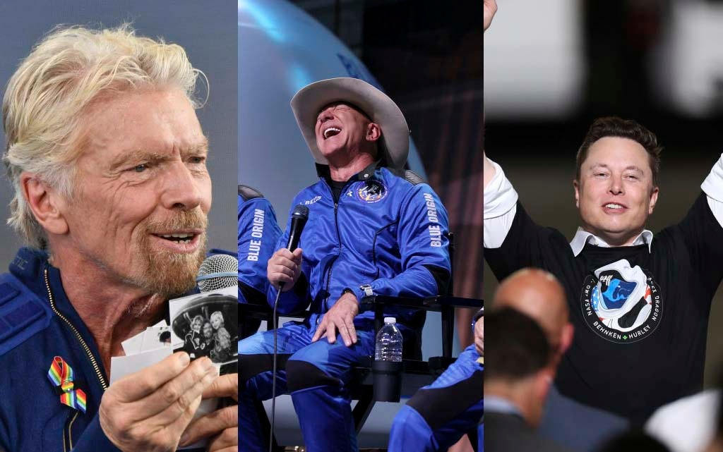 Elon Musk, Richard Branson and Jeff Bezos: the race for space tourism