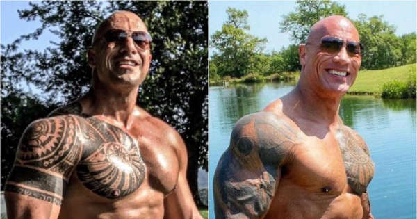 Even Dwayne Johnson reacts They find the double of The.img