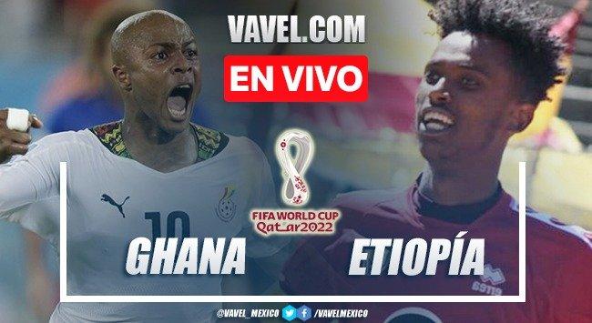 Goals and summary of Ghana 1 0 Ethiopia in Qatar 2022