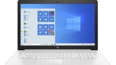 HP 17-ca2033nf, 17 ″ Simple Stylish Silver Laptop PC Fast Cheap with 512 GB SSD and CD / DVD Burner