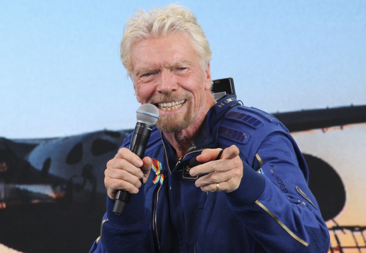 How long did it take Richard Branson to lead his controversial out-of-orbit trip?