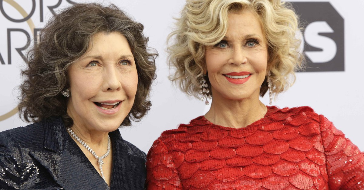 Jane Fonda and Lily Tomlin they are in their 80s.com