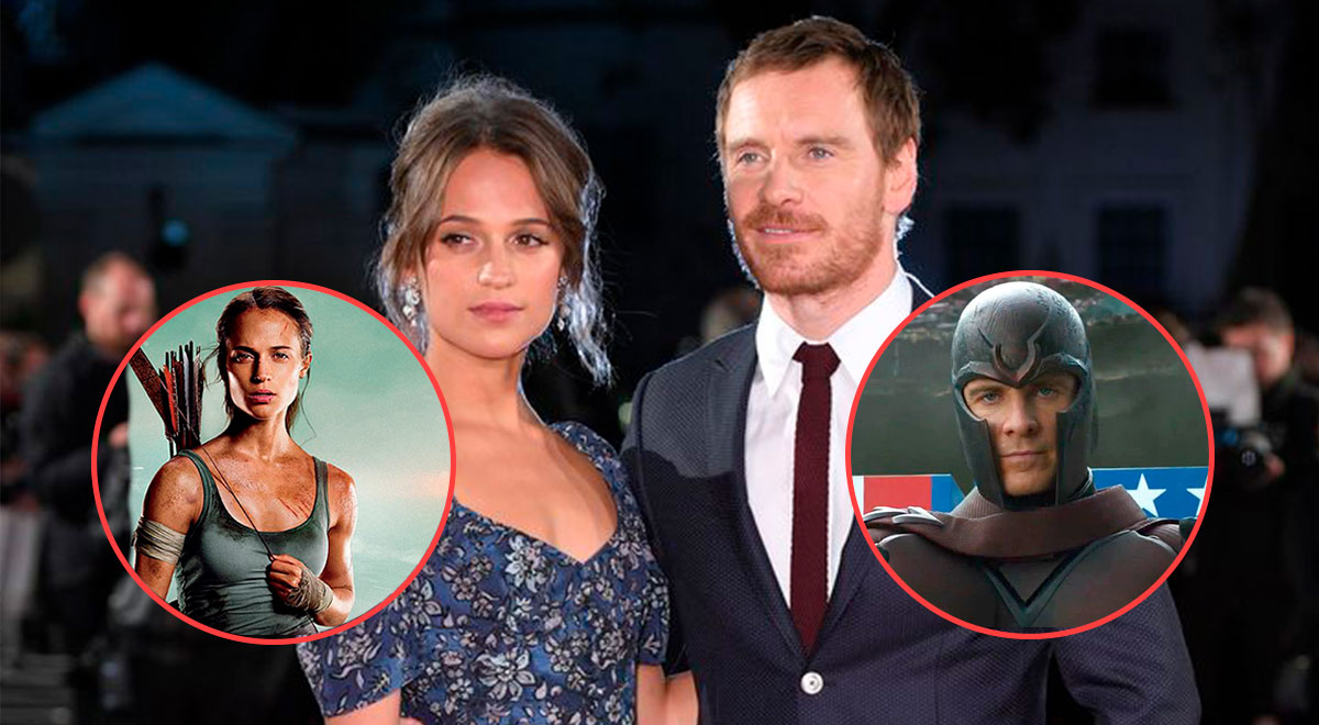 Michael Fassbender actor X Men and his wife Alicia Vikander welcome