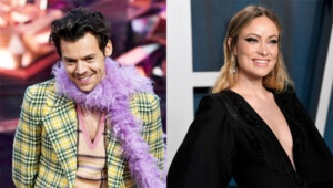 Olivia Wilde spotted supporting BF Harry Styles at Las Vegas show in stylish pantsuit E! News UK