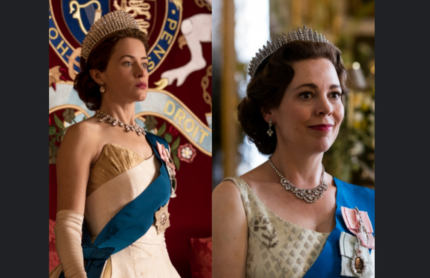 Queen Elizabeth looks good on Emmys Olivia Colman joins Claire