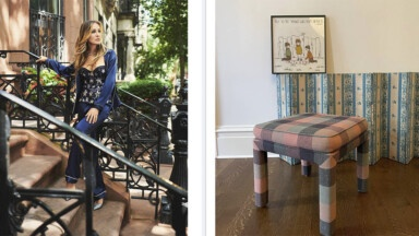 Sarah Jessica Parker's artie-bohemian home: set with flea market furniture and travel-bought items