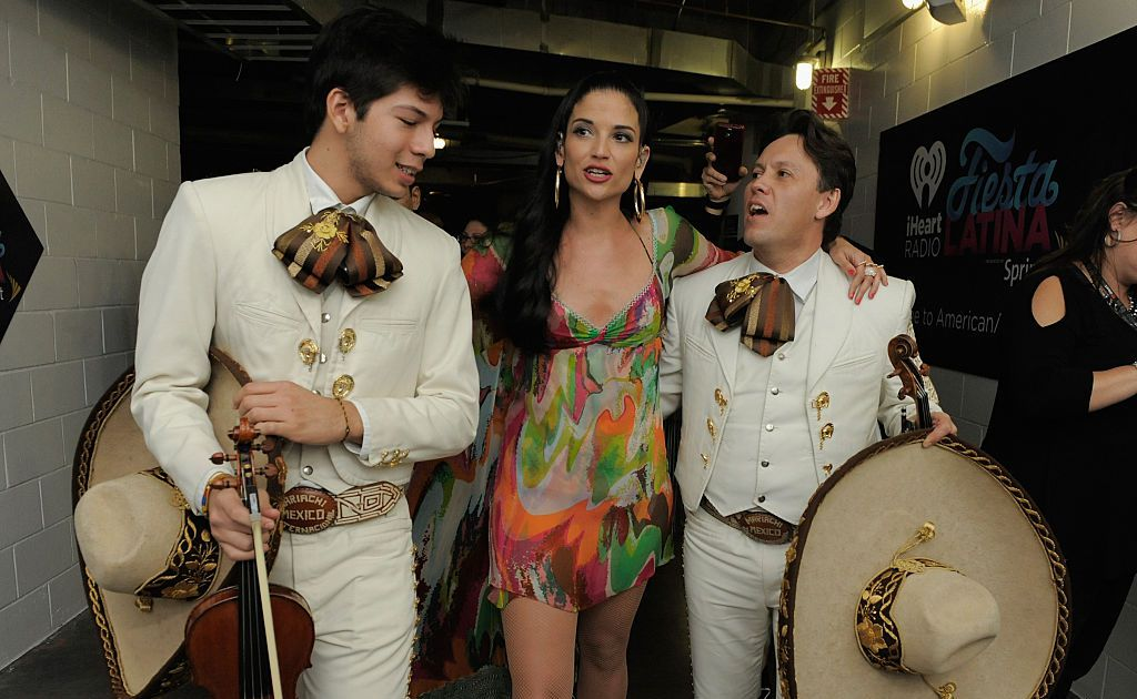 Singer Natalia Jiménez dresses as a mariachi again