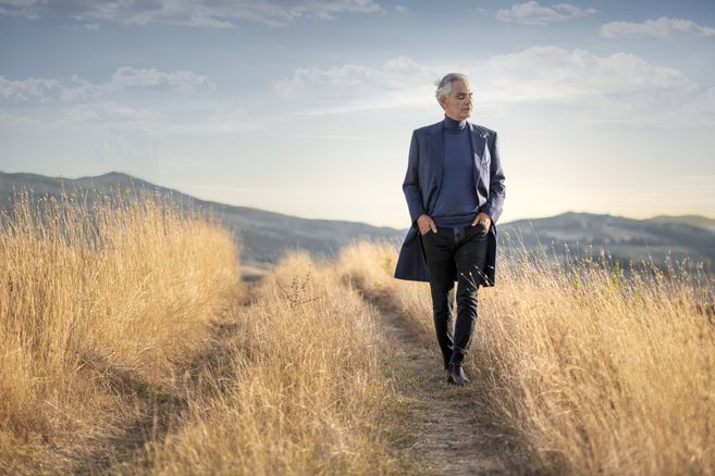 So you can see Andrea Bocelli at his concert in
