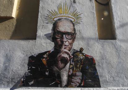 A graffiti by Harrygrebdesign, in homage to Morricone, in the Roman neighborhood of Trastevere.