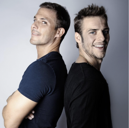 The Casademunt brothers in a photo shoot