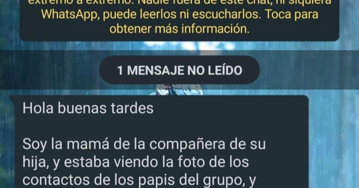 The unusual request of a mother to a father of the WhatsApp group at school for his profile photo