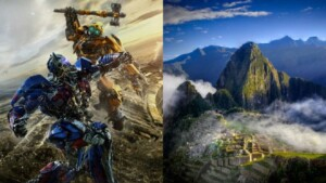 Transformers in Cusco: This was the filming of the movie