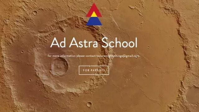 Ad Astra school ad on the internet