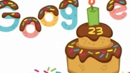With a special doodle, Google celebrates its 23rd anniversary
