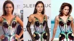 Beautiful! The butterfly dress that Jennifer Lopez, Beyoncé and Irina Shayk wore decades apart