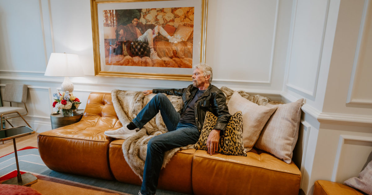 1634679876 After traveling into space Sir Richard Branson puts his feet