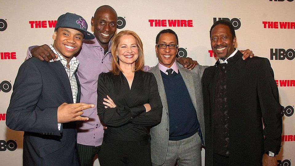 Part of the cast of The Wire, during the launch of the series