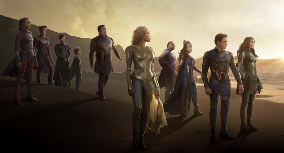 Eternals The new heroes shine in the official posters of